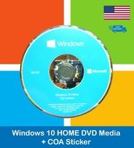 SEALED Microsoft Windows 10 Home 64bit English DVD Media + License Produ... - $26.72