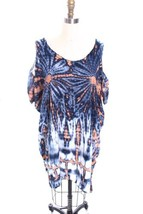 Fab Tie Die Swim Cover Up from Petite St Vincent One Size Blue Cold  Sho... - $87.32