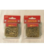 Staples Paper Clips Lot of 2 Packages Gold Metal Pack of 200 Standard Size  - $7.99