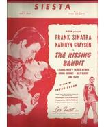 Siesta 1948 the Kissing Bandit Frank Sinatra Vintage Sheet music Free sh... - $9.95