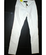 New Womens Designer Just Cavalli Italy Pants 40 4 Slim Work Moto Off Whi... - $765.00