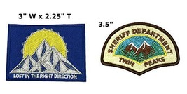 Lost in The Right Direction and Twin Peaks National Park Series 2-Pack Embroider - $7.89