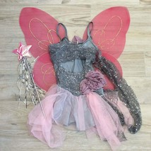 Grey Pink WOODLAND FAIRY COSTUME M Child - $94.05