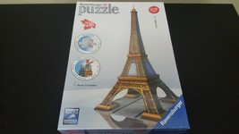 Ravensburger 3d Puzzle Eiffle Tower 216 Pieces Brand New 17.3 Inches Tall - $15.84
