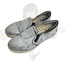 Circus Sam Edelman Women's Silver Slip On Closed Toe Flat Loafers Sz 7 - $13.88
