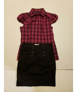 2pc Outfit H&M Black Skirt Sz 8 & She Said... Sleeveless Button Down Blo... - $29.00
