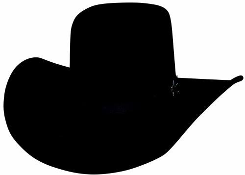 Bullhide PBR Chute Boss 8X Fur Blend Cowboy Hat Deep Crown Black Silverbelly