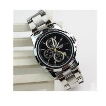 Men's Sport Watch Quartz / Stainless Steel Band Vintage Black White - $80.00