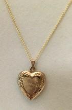 """Vintage 10 Kt. Gold Filled Locket I Love You  18"""" Sterling Silver Vermei... - $29.21"""