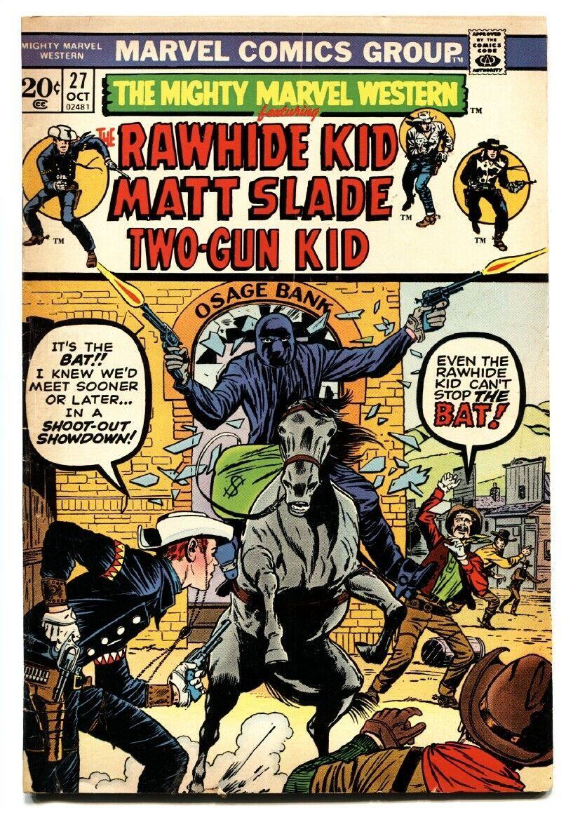 MIGHTY MARVEL WESTERN #27 comic book-RAWHIDE KID/TWO-GUN-KIRBY - $22.70