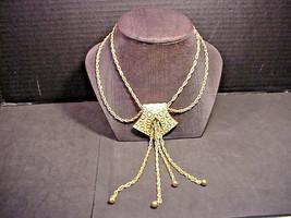 Trifari Crown Mark Vintage Necklace Double Chains Large Pendant w/ Chain... - $34.65
