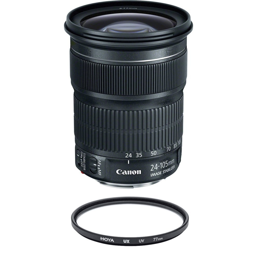 Primary image for CANON EF 24-105mm F3.5-5.6 IS STM (White Box) + HOYA UX UV 77mm Filter