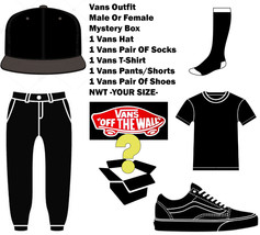 Vans Authentic Blind Box Mens/Womens Outfit Assorted Random 5 Piece NWT ... - $137.19