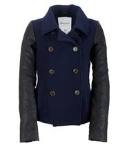 Aeropostale Womens Wool Blend Classic Peacoat Jacket Coat Navy Black NWT - $59.99