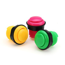 28MM Yellow Pink Green Short Push Button for Arcade Game Console Control... - $6.40