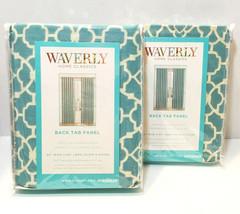 "Waverly Home Classics Lovely Lattice Teal Panel Pair 2-50/84"" Back Tab #... - $42.57"
