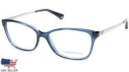 NEW Emporio Armani EA3026 5072 TRANSPARENT BLUE EYEGLASSES FRAME 52-15-1... - $89.09