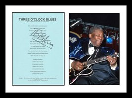ULTRA COOL - BB KING - BLUES MUSIC LEGEND - AUTHENTIC HAND SIGNED AUTOGRAPH - $199.99