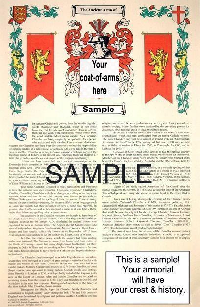 APPLEFORTH - APPLEGIT Coat of Arms (Armorial Name History) Family Crest 11x17 Pr - $18.99