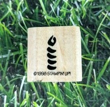Stampin Up Rubber Stamp Birthday Candle Wooden Mounted 1998 Celebrate Party - $6.92