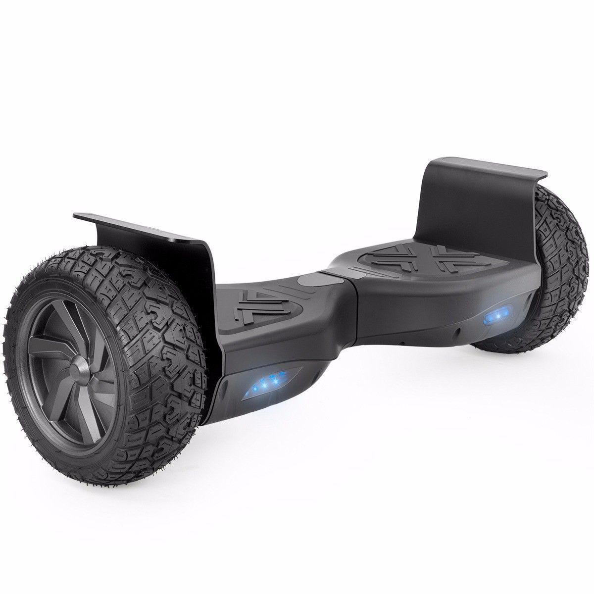 "Black Heavy Duty Metal All Terrain Off Road Bluetooth Hoverboard 8.5"" Scooter"