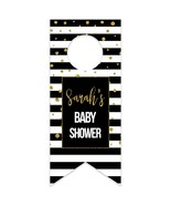 Stripes and Glitter Personalized Water Bottle Hang Tag - $26.24