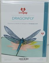 Lovepop LP1601 Dragonfly Pop Up Card White Envelope Cellophane Wrapped image 6