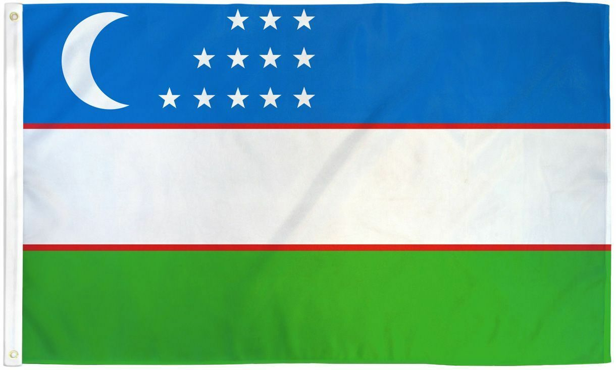 "UZBEKISTAN 3X5' FLAG NEW 3'X5' 3 X 5 FEET 36X60"" BIG"