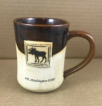 Cape Shore Glazed Stoneware Pottery Brown 16 Oz. Cup Mug Moose Mt. Washi... - $9.39