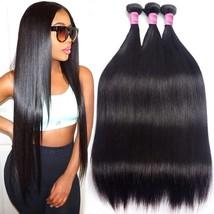 Brazilian Human Hair Bundles Straight 10A Remy Human Hair 3 Bundles 12  14  16   - $73.99+