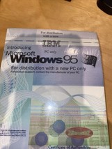 WINDOWS 95 ORIGINAL MICROSOFT Floppy Disks! Full Package W/Certificate o... - $166.77