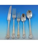 Ammonite by Ginkgo Stainless Steel Flatware Set Service 62 pcs Estate - $995.00