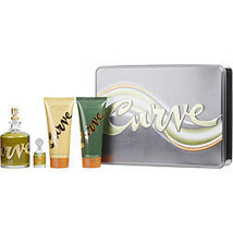 Curve By Liz Claiborne Cologne Spray 4.2 Oz & Cologne 0.25 Oz Mini & Aft... - $56.00