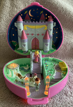 Vintage 1992 Polly Pocket Starlight Castle Compact COMPLETE Lights Up Bluebird - $89.09