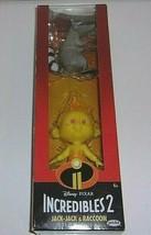 Disney Pixar New Factory Sealed Incredibles Jack-Jack & Raccoon Action F... - $17.96