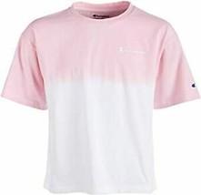 Champion Little Girls Dip-Dyed Colorblocked Logo-Print T-Shirt Pink/White 6 - $39.99