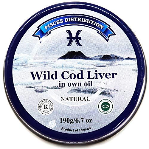 Primary image for Wild Cod Liver in Own Oil – 5 pack x 6.7 oz (190 g) – Natural Source of Cod Live