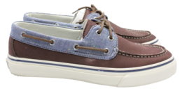 Sperry Top Sider Bahama 2-Eye Fleck Mens Brown Boat Shoe Size 10 Authentic - $66.49