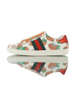 Gucci Ace leather sneaker with Gucci Strawberry print 387993 08L30 9262 - $250.00