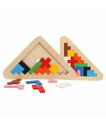 Kids Toy Tangram/Jigsaw Board Puzzle Brain Teaser Colorful Geometric Sha... - $14.09