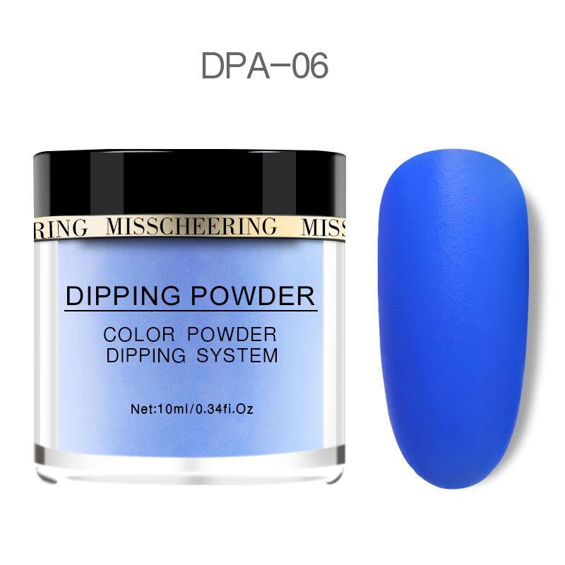 Matte Color Manicure Powder Nail Dipping Powder Nail Art Decorations  06