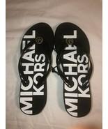 Michael Kors Bedford Sandals Signature/PVC/Black/White(RX19I)Size:US 7 - $42.00