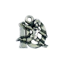 10 Lords A Leaping Fine Pewter Charm Pendant - 16mm  X 15mm X 2mm