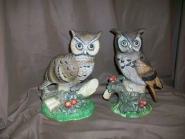 *IMPERFECT* PAIR OF UCAGCO PORCELAIN OWL FIGURINES - $14.84