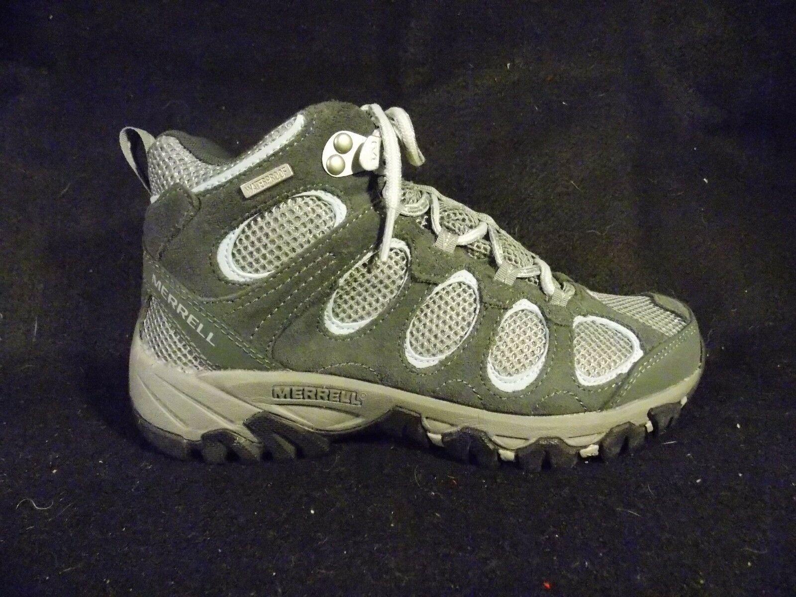 Women's Merrell Hilltop Vent Waterproof Castle Rock Gray Hiking Shoes Size 6 image 6