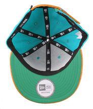 Leaders1354 Chicago New Era Varsity Teal/Orange Strapback Baseball Hat Cap Miami image 6