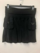 Guess Collection Women's Black Foldover 100% Cupro Skirt, Size S Small, EUC - $19.79