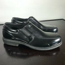 Florsheim Work Sz 8.5  Steel Toe Dress Black Leather Slip-on Men Shoes - $26.73