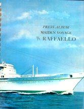 Italian Line Press Album Maiden Voyage T/V Raffaello - $23.95