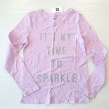 "Gap Kids 'It's My Time To Sparkle"" Graphic Lilac Shirt - M (8) - NWT - $7.99"